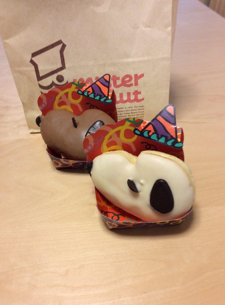 ミスタードーナッツのスヌーピードーナッツ