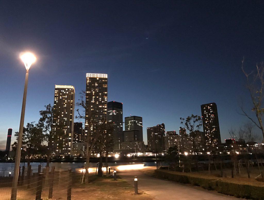 豊洲の夜景は綺麗ですね