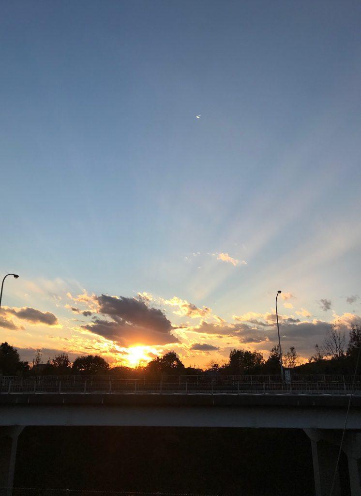 綺麗な夕日です